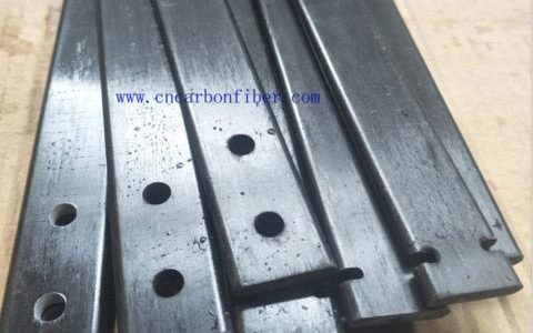 Pultruded carbon fiber flat solid bars components