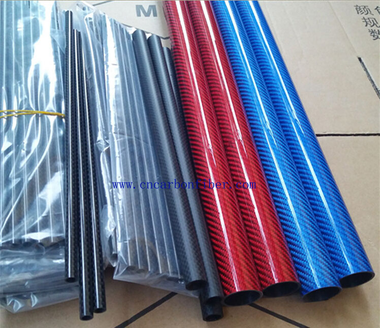 color carbon fiber tube pipe