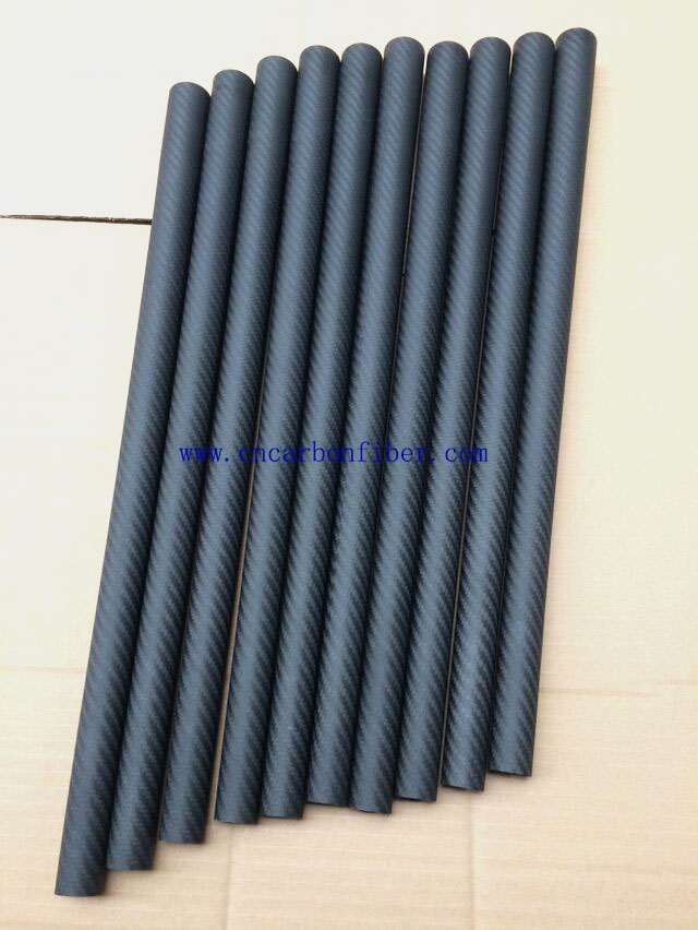 3K twill taper carbon tubes