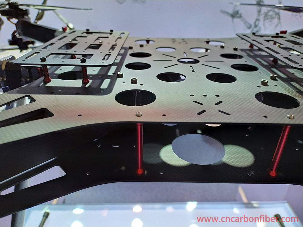 CNC carbon fiber sheet cutting for UAV/drone body