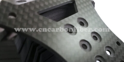 CNC cutting 3K matte carbon fiber sheet