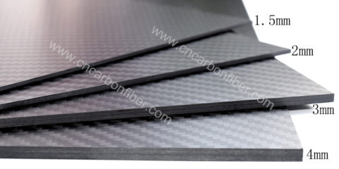 1000X600X5.0mm 3K full twill matte carbon fiber plate