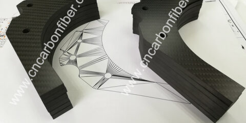 Precise cnc cutting carbon fiber plates for Drone