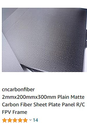 carbon fiber sheet plain amazon 2mm