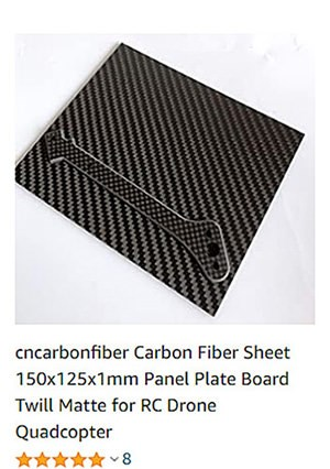 small carbon fiber sheet amazon 2mm