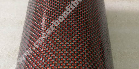Red color carbon fiber tube